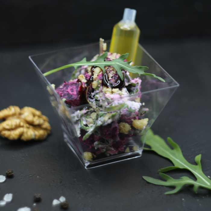 Салат со свеклой и сыром рикотта